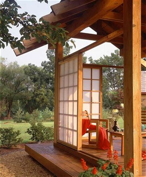 asian inspired panels a raised platform deck brings a