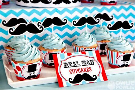 Mustache Themed Baby Shower Supplies by Kara S Ideas Mustache Baby Shower Via
