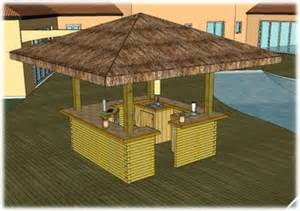 Tiki Bar Building Plans Big Kahuna Tiki Home Bar Plans