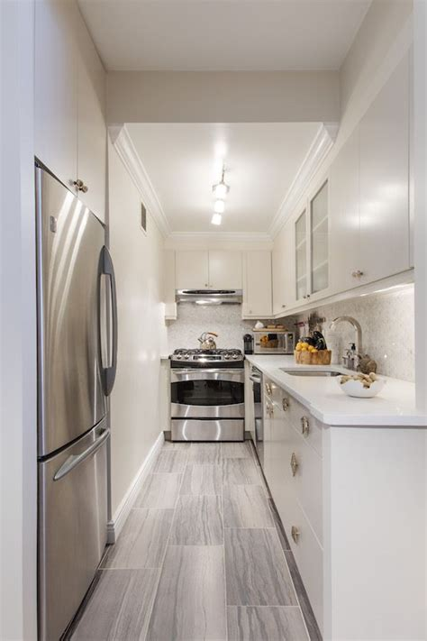 narrow galley kitchen design ideas peenmedia com 17 best images about galley kitchens on pinterest