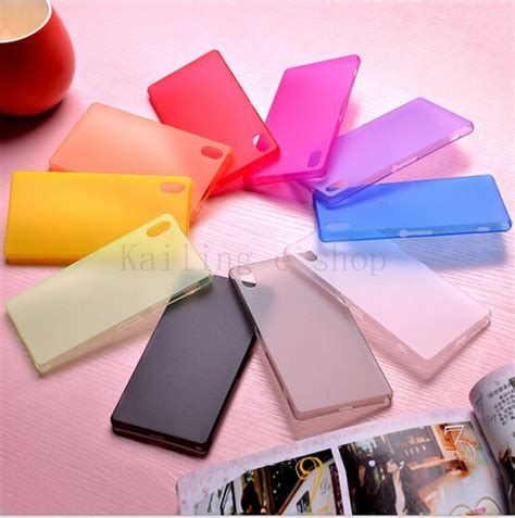 Xperia Z2 0 3mm Ultra Thin Colorful Plastic Material Cover for sony z2 l50w 0 3mm ultra thin phone
