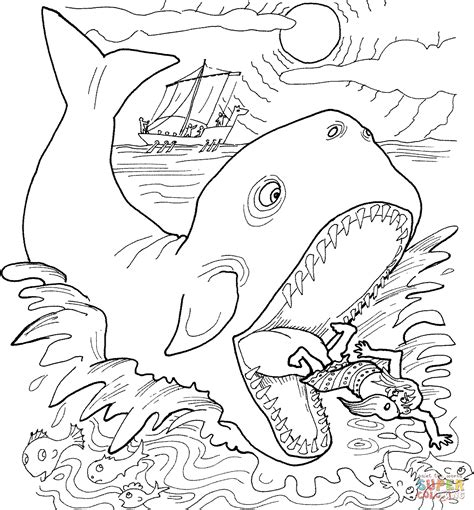 jonah vine coloring page jonah and the whale coloring page free printable