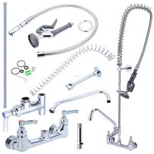 Commercial Kitchen Faucet Parts commercial kitchen sink tap wall mount pre rinse sprayer