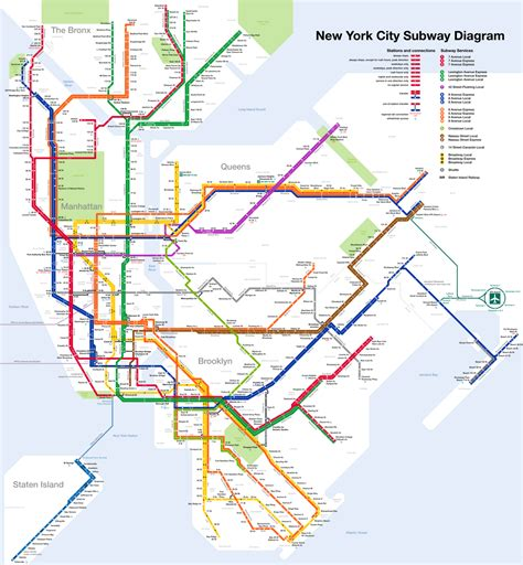 ny metro map mappa metropolitana new york pdf