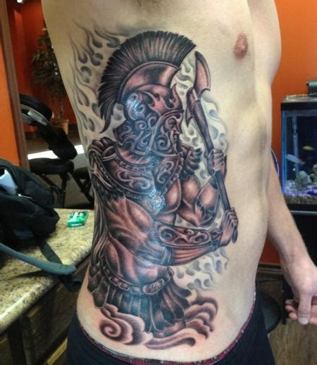 st florian tattoo st florian with axe by clark tattoos