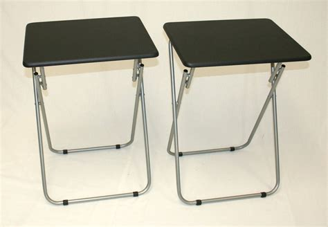 Folding Tray Table Ikea Black Leathertv Tray Table With Stainless Steel Folding Stand Ideas