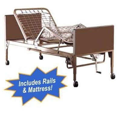 semi electric hospital bed pro basics semi electric hospital bed package w mattress