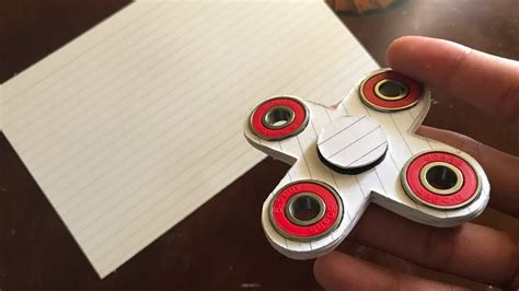 How To Make Paper Spinners - how to make a fidget spinner spinner out of index
