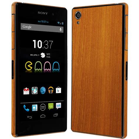 Cover Sony Xperia Z1 skinomi techskin sony xperia z1 light wood skin protector