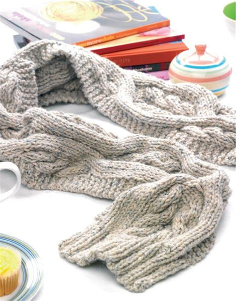 cable knit scarf pattern free scarves knitting bee 376 free knitting patterns