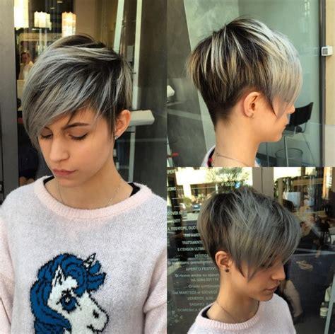 coupes courtes  couleurs sublimes pour cheveux courts
