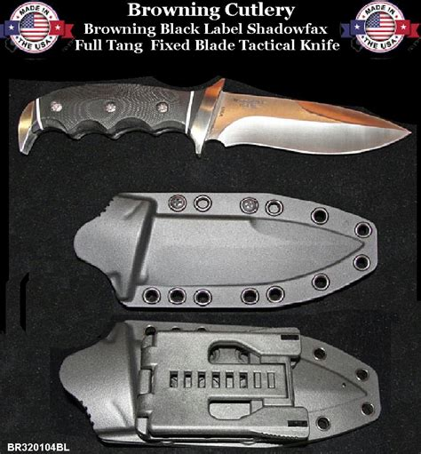 black label tactical knives browning cutlery br320104bl browning black label tang