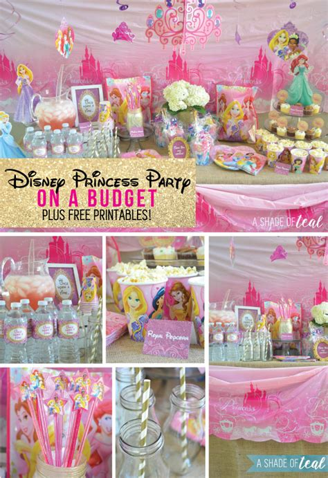 printable princess party decorations a disney princess party on a budget plus free printables