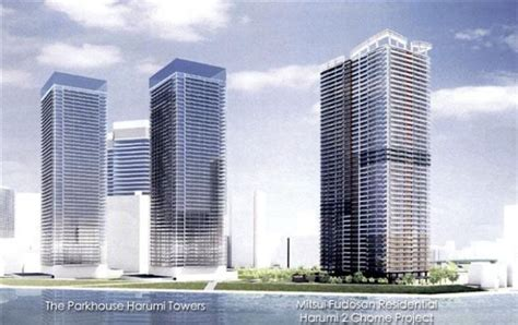 Rise Harumi japan property central 187 mitsui s new high rise in harumi