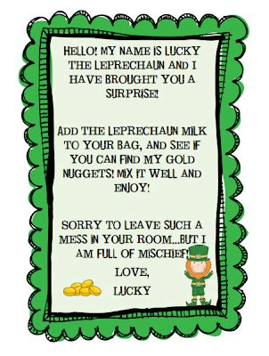 free printable letters from leprechaun teachery tidbits happy st patty s day