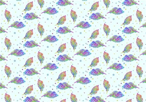 watercolor feather pattern free vector watercolor bohemian feather pattern download