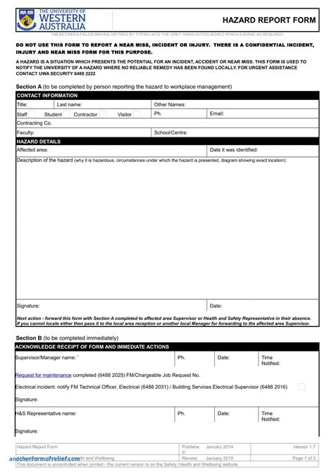 health and safety incident report form template health and safety incident report form template unique