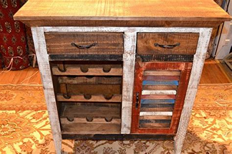 distressed wood wine cabinet crafters and weavers rustic distressed reclaimed wood wine