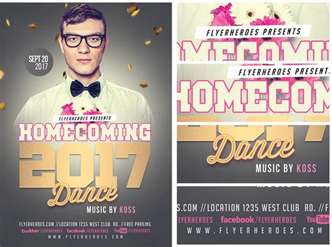 Homecoming Dance Flyer Template Customizable Design Templates For School Postermywall Ianswer Homecoming Flyer Template