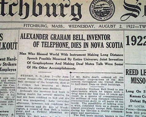 facts about alexander graham bell s death alexander graham bell death rarenewspapers com