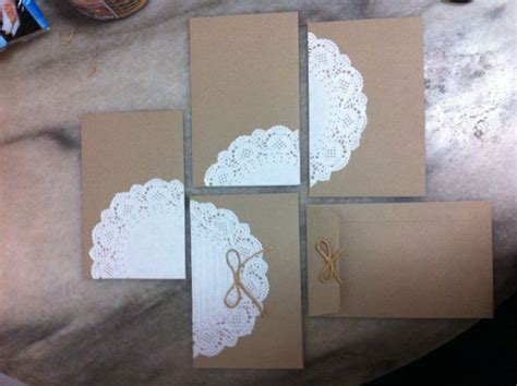 How To Make Paper Doily Envelopes - diy doily envelopes weddingbee photo gallery