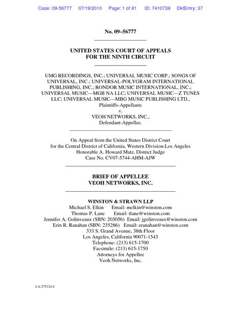 Best Appellate Brief Template Images Gallery Gt Gt Law School Case Brief Template Studiorc Co Appellate Brief Template