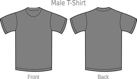Gray T Shirt Clip Art At Clker Com Vector Clip Art Online Royalty Free Public Domain Grey T Shirt Template