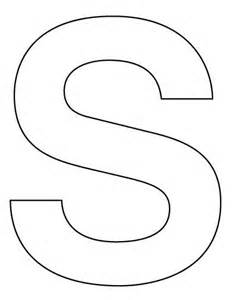 big letters to cut out make a large letter s for your
