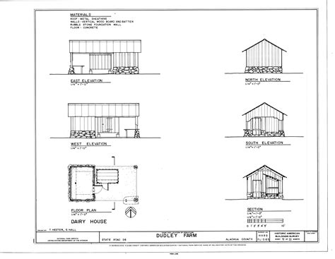 floor plans and elevations file dairy house elevations floor plan and section