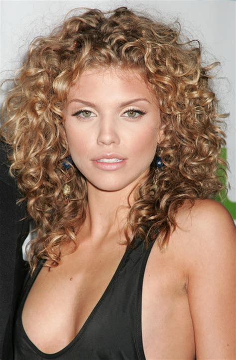 hair cuts for medium length permed hair with bangs curly perm hairstyles