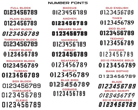 font number 11 number font styles images jersey number font styles
