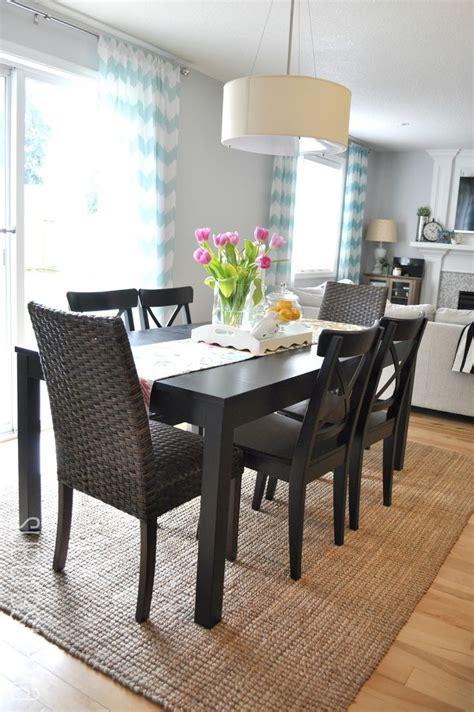 Small Dining Room Rug Ideas Suburbs Dining Area Third Times The Charm For