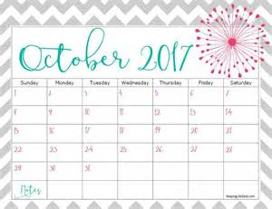october 2017 calendar cute printable monthly calendar