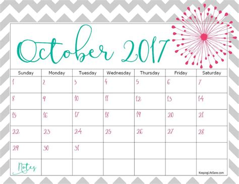 Calendar 2017 November And October Free 2017 Calendar For You To Print Keeping Sane