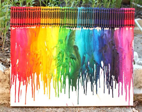how to make rainbow melted crayon