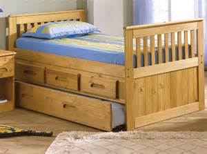 Twin size captains bed with trundle kids bedroom furniture captain