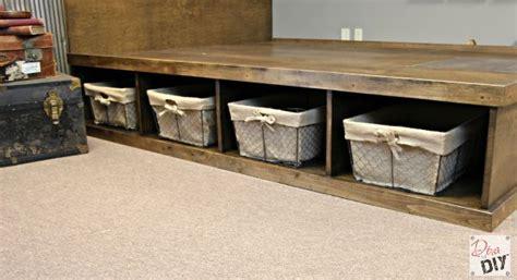 platform bed  storage tutorial furniture projects