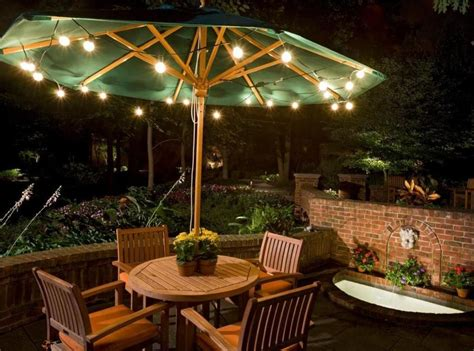 outdoors cozy outdoor patio lighting ideas