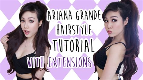 whats wrong with ariana grande hair hair tutorial ariana grande half ponytail hairstyle with