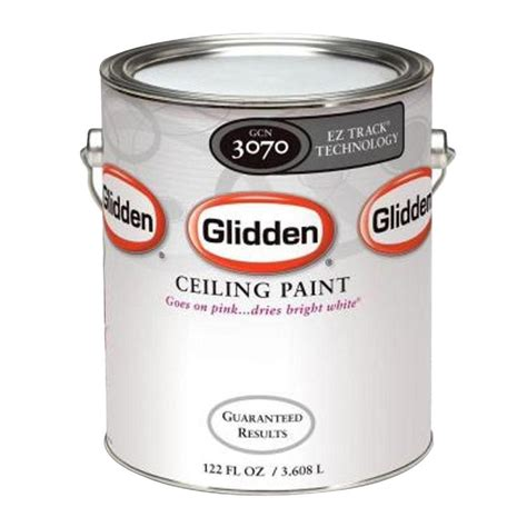 ceiling paint that goes on pink glidden 1 gal bright white interior flat ez track ceiling