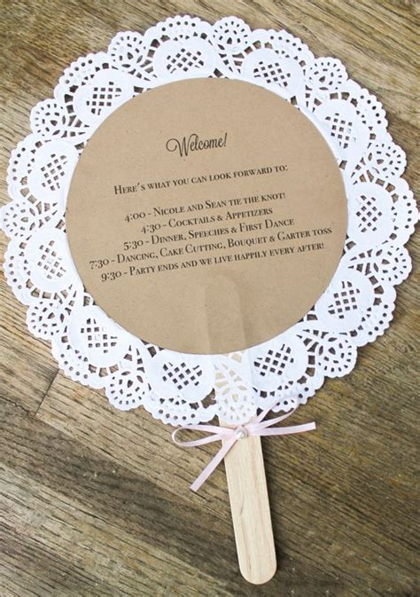 diy wedding invitations paper doilies diy wedding crafts doily wedding program fan tutorial