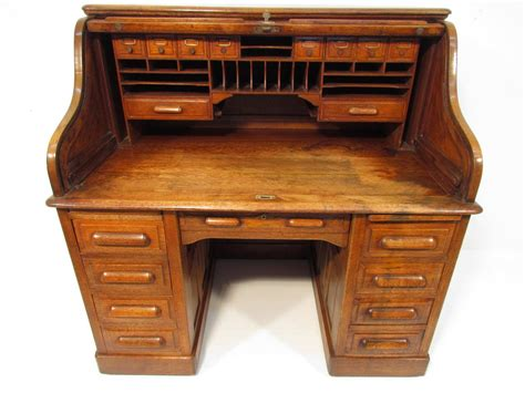 Antique Golden Oak Roll Top Desk C 1910 Ebay Antique Roll Top Desk