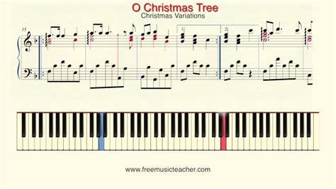 tutorial piano christmas how to play piano christmas variations quot o christmas tree