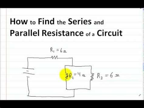 how to add resistance in a parallel circuit series and parallel circuits part 1 how to find the series and parallel resistance of a circuit