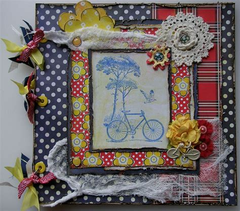 Handmade Scrap Book - ooak handmade vintage bicycle cycling paralympics olympics