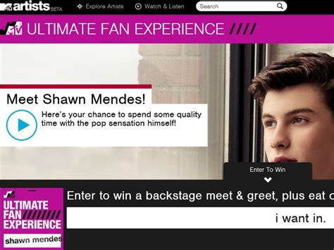 Mtv Sweepstakes - the mtv shawn mendes ultimate fan sweepstakes