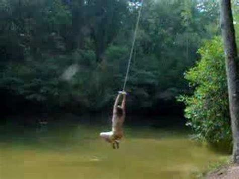 pond swing rope swing into pond in nc youtube