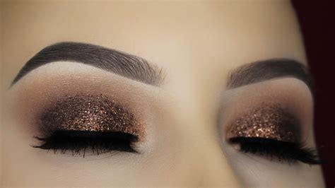 tutorial eyeshadow youtube brown glitter eye makeup tutorial youtube