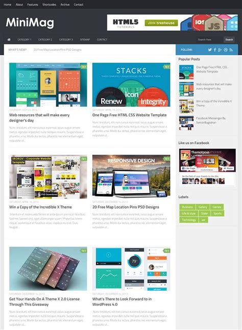 minimag magazine blogger template 187 abtemplates com