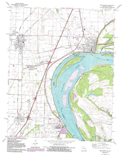 map missouri and kentucky new madrid topographic map mo ky usgs topo 36089e5